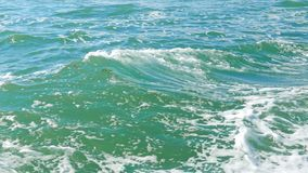 The waves of the sea from the ship stock footage