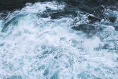 Waves in the sea. view from above stock images