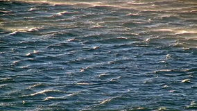 Waves on the sea stock footage
