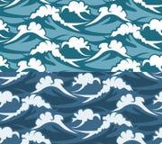 Waves seamless pattern Royalty Free Stock Image