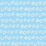 Waves seamless pattern. Retro fabric texture. Royalty Free Stock Images
