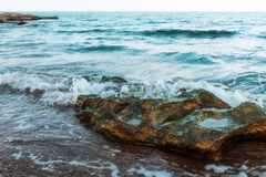 Waves on seashore Stock Photo