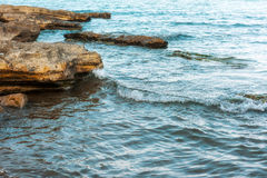 Waves on seashore Stock Photography