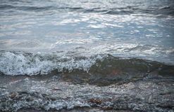Waves at the seashore. Royalty Free Stock Image