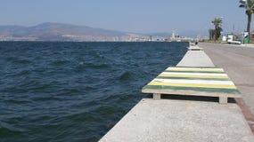 Waves in seaside in Konak,  Izmir. Royalty Free Stock Photo