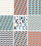 Waves - set of geometric seamless patterns Stock Photography