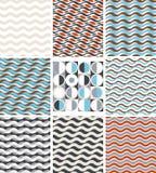 Waves - set of geometric seamless patterns Stock Photography