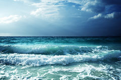 Waves at Seychelles beach Stock Images