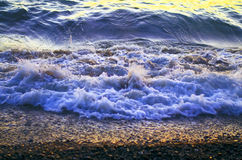 Waves on the shore Royalty Free Stock Photos