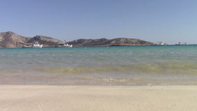 Waves at shore. Waves at the beach in Koufonisia island stock video footage