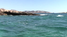 Waves at shore. In cyclades islands, Greece stock video