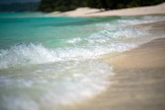 Waves on the shore Maldives sandy beach cristal water landscape Stock Photography