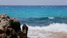 Waves on the shore stock footage