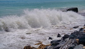 Seascape. The Black Sea. Waves show - Romania royalty free stock image