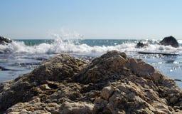Seascape. Waves show. Summer, sea, sun, beach, holiday, fun - Black Sea, landmark attraction in Romania Stock Images