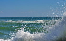 Seascape. Waves show. Summer, sea, sun, beach, holiday, fun - Black Sea, landmark attraction in Romania Stock Photography