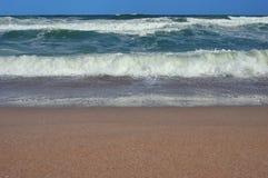 Seascape. Waves show. Summer, sea, sun, beach, holiday, fun - Black Sea, landmark attraction in Romania Stock Photography