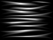 Waves silver background. Black background with white waves Royalty Free Stock Images