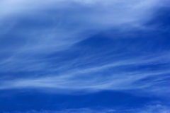 Waves in the Sky. Ocean wave pattern of clouds in the sky Royalty Free Stock Image