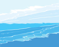 Waves and sky Royalty Free Stock Photography
