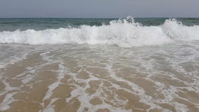 Waves in slow motion in the Mediterranean Sea in Tunisia.  stock footage