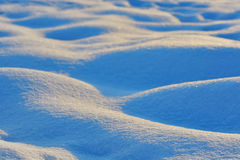 Waves of snow bumps Royalty Free Stock Images