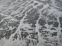 Waves of snow on ice Royalty Free Stock Images