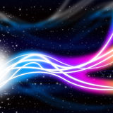 Waves Space Background Means Energy And Light Royalty Free Stock Photos