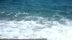 Waves splash stock footage