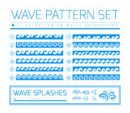 Waves and splashes Royalty Free Stock Photos