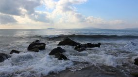 Waves and stone. Image was shot in Bulgaria beach stock footage