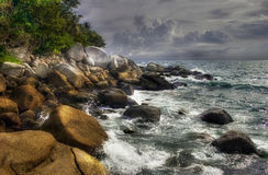 Waves, stones of Phuket Royalty Free Stock Images