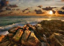 Waves, stones of Phuket Royalty Free Stock Image