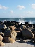 Waves & stones Royalty Free Stock Photo