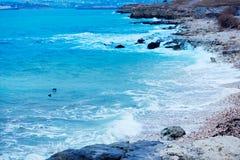 Waves on the Stony Coast. Stock Photography