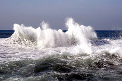 Waves after a storm. In Mediterranean sea Stock Image