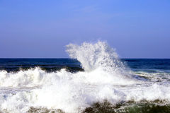 Waves after a storm. In Mediterranean sea,Israel Royalty Free Stock Photos