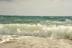 Waves before storm on the sea. Waves before storm on the Mediterranean sea Royalty Free Stock Photo