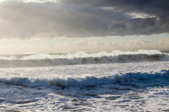 Waves Storms. Ocean waves crashing water power weather storms Stock Image