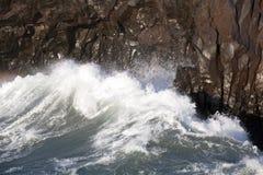 Waves at the stormy coast Royalty Free Stock Photos