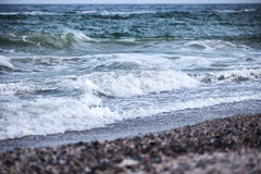 Waves of the stormy sea Stock Photo