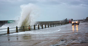 Waves of a stormy sea Stock Photography