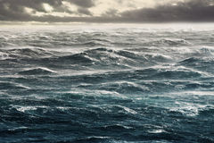 Waves. Stormy Winds Leveling Huge Waves Flat Stock Images