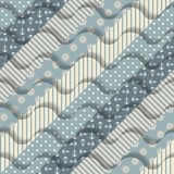 Waves on striped pattern Stock Photo