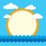 Waves, Summer vector Stock Images