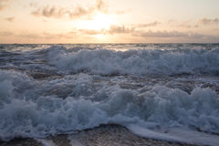 Waves at sunrise, Wabaso, FL Stock Photos
