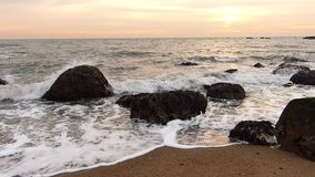 Waves at Sunset stock video footage