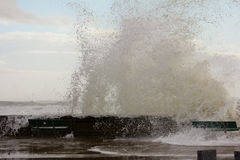 Waves from Superstorm Sandy Stock Photos