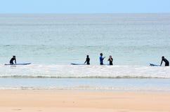 Waves Surf School Royalty Free Stock Photo