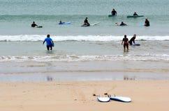 Waves Surf School Stock Image